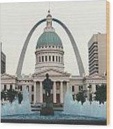 Kiener Plaza - St Louis Missouri Wood Print