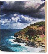 Kilaeua Point National Wildlife Refuge- Kauai  Hawaii Wood Print