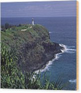 Kilauea Lighthouse II Wood Print