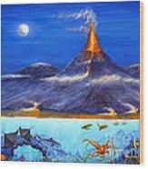 Kilauea Volcano Hawaii Wood Print