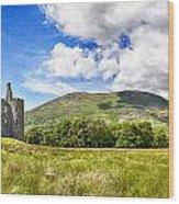 Kilchurn Castle Ruin Wood Print