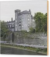 Kilkenny Castle Seen From River Nore Wood Print