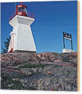 Killarney Ontario Lighthouse Wood Print