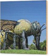 Killer Bee Model Wood Print