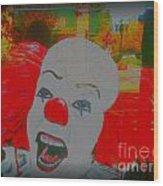 Killer Clowns In Fresco Wood Print