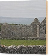 Kilmacduagh Church Ruin Wood Print