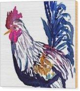 Kilohana Rooster Wood Print