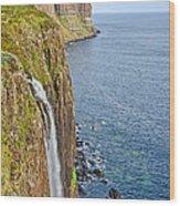 Kilt Rock Waterfall Wood Print