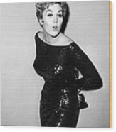 Kim Novak Holding Oscar, Circa 1950s Wood Print