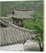 Kimchi Pots, Tiles And Lanterns Wood Print
