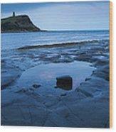 Kimmeridge Bay At Dawn Wood Print