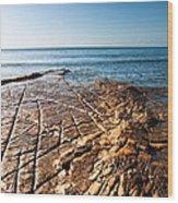 Kimmeridge Bay Seascape  Wood Print