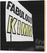 Kimn Radio Denver Colorado Wood Print