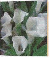 Kim's Flowers Wood Print