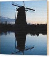 Kinderdijk Dawn Wood Print