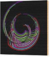 Kinetic Rainbow 18 Wood Print