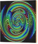 Kinetic Rainbow 26 Wood Print