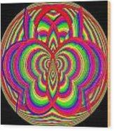 Kinetic Rainbow 28 Wood Print