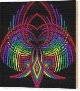 Kinetic Rainbow 30 Wood Print