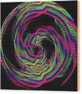 Kinetic Rainbow 36 Wood Print