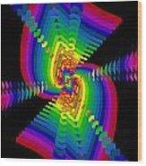 Kinetic Rainbow 47 Wood Print
