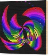 Kinetic Rainbow 51 Wood Print