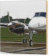 King Air 200 Wood Print