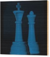 King And Queen In Blue Wood Print by Rob Hans