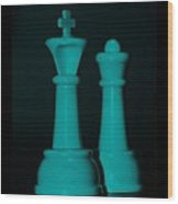 King And Queen In Turquois Wood Print