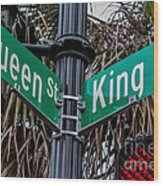 King And Queen Street Wood Print