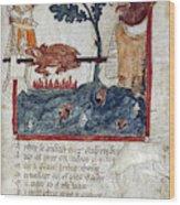 King Arthur And Giant Wood Print