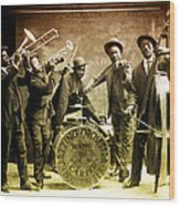 King Carter Jazzing Orchestra Wood Print