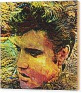 King Elvis Wood Print