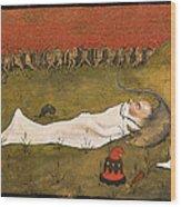 King Hobgoblin Sleeping Wood Print