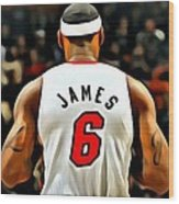 King James Wood Print