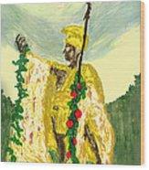 King Kamehameha Festival Wood Print