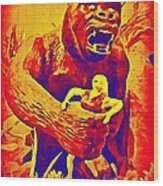 King Kong Wood Print