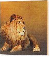 King Leo Wood Print