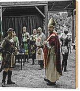 King Macbeth Of Scotland With The Bishop Wood Print