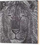 King Of Beasts Wood Print