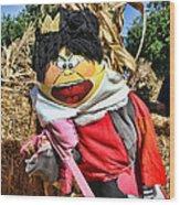 King Of Hearts Scarecrow By Diana Sainz Wood Print