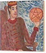 King Of Pentacles Wood Print
