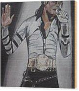 King Of Pop Wood Print