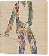 King Of Pop In Concert No 14 Wood Print