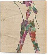 King Of Pop In Concert No 2 Wood Print