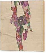 King Of Pop In Concert No 3 Wood Print