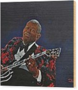 King Of The Blues Wood Print