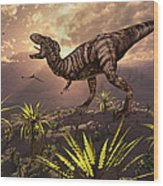 King Of The Dinosaurs.. A T.rex Wood Print