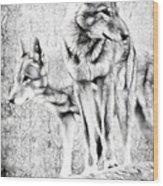 Alpha Male Black And White Wood Print
