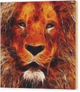 King Of The Jungle Wood Print